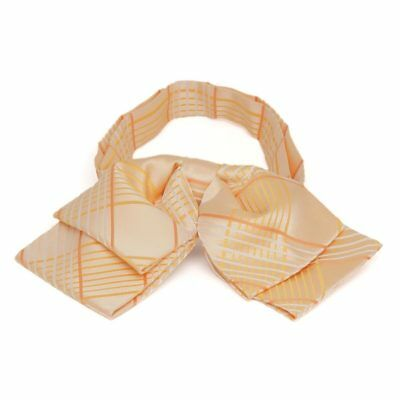 TieMart Apricot Jeffrey Plaid Floppy Bow Tie