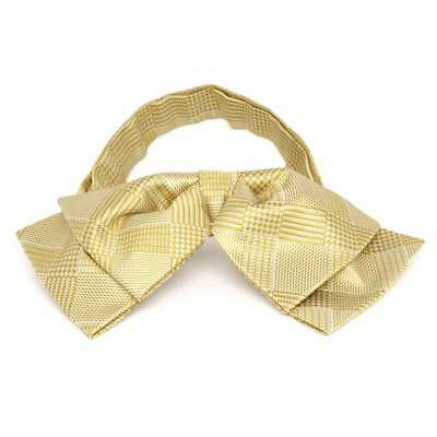 TieMart Sunflower Yellow Michael Glen Plaid Floppy Bow Tie