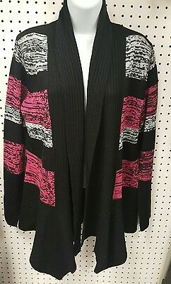 Maternity Clothing Blouse Top Cardigan Sweater Open Size S Due Time Pink Black
