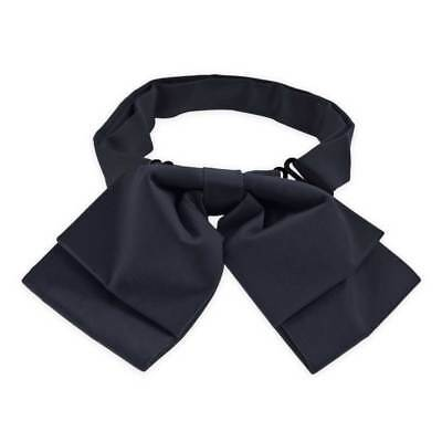 TieMart Dark Navy Blue Floppy Bow Tie