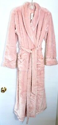 NWT $99 Chico's Soma Luxe Long Robe, Vintage Pink, Sizes S/M & L/XL