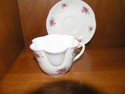 Fine china tea cup and saucer Crown Staffordshire England Sweetheart Rose