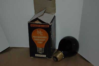 Vintage boxed AMBER LMC LIGHT-METER CORP. PHOTOGRAPHIC DARKROOM LAMP