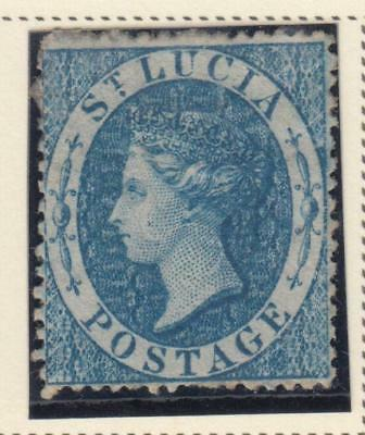 St. Lucia 2 1860 Mint Hinged Og * No Faults Extra Fine !