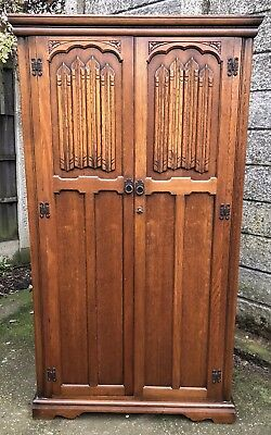 Fine Arts & Crafts 2 Door Fitted Oak Hall Wardrobe- 2 Man Delivery Available