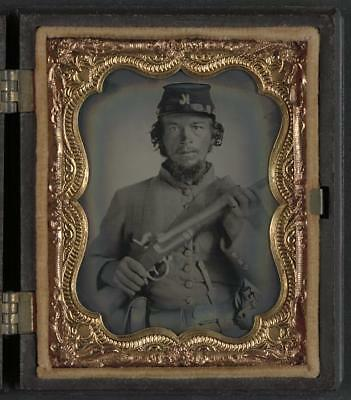 Unidentified Soldier,Company K,Musket,American Civil War,Military,1861-1865