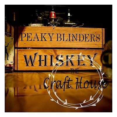 PEAKY BLINDERS Mix & Match STENCIL PANELS Furniture wine CRATES BOXES Upcycle