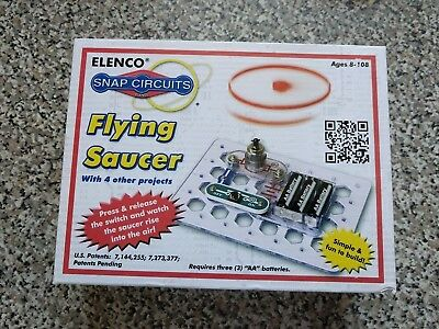 Elenco Snap Circuits SCP-06 Flying Saucer + 4 Other Projects NEW NIB