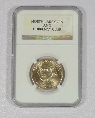 NGC Sample Slab North Lake Coin & Currency Club 2007 Presidential Dollar