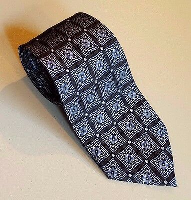 Luxury BLACK & SILVER Hand Made 100% Silk STAIN RESISTANT Men's Tie by Twinhill