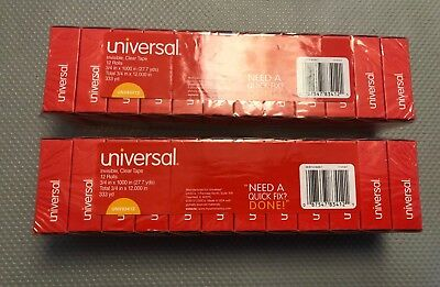 Universal invisible tape refills 24 rolls 3/4 X 1000 in. FREE SHIPPING