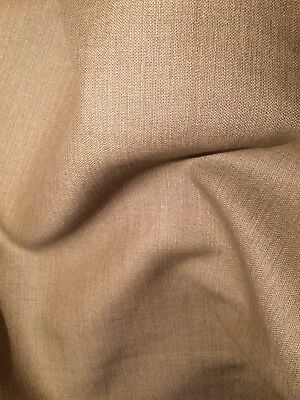 ROGERS & GOFFIGON linen khaki plain smooth woven 7+ yards new