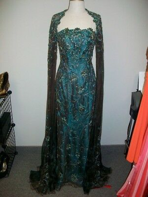 STEPHEN YEARICK evening gown with optional shrug; perfect for pageant, prom.