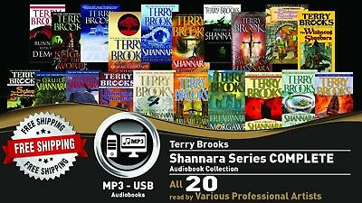 20 - SHANNARA By TERRY BROOKS Ultimate Audiobook Collection • 20 Audiobooks