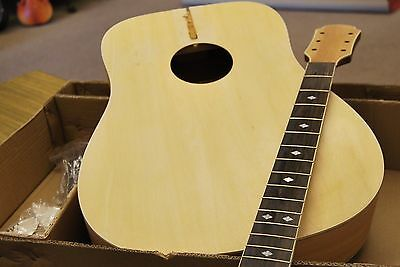 Customize Your Own Full Size 6 String D Acoustic Dreadnought Guitar Diy Kit