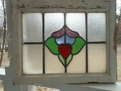 MA12-341 Lovely Older Leaded Stained Glass Window From England LAST ONE!!