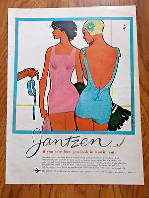 1959 Jantzen Swimsuits Ad If you care how you look in a Swim Suit