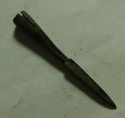 Rare ancient Roman BRONZE QUAD blade ballista bolt head artifact ARMOR ARROWHEAD