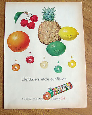 1959 Life Savers Candy Ad   Life Savers Stole our Flavor