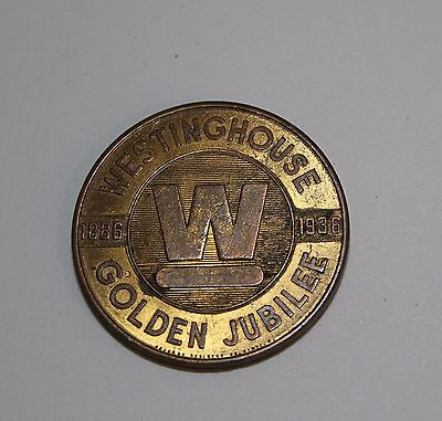 Commemorative 1886-1936 Westinghouse Golden Jubilee Medal, Token, Coin