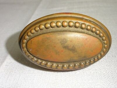"Vintage Barss Art Deco Single Oval Door Knob 2 1/2"" x 1 1/2 Round House Hardware"