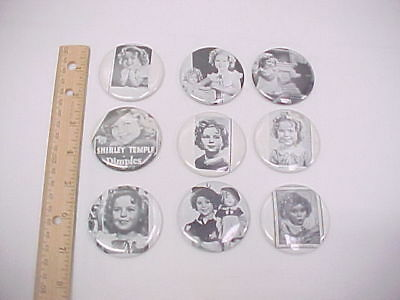 9 Assorted Shirley Temple Pocket Mirrors with Repo Photographs
