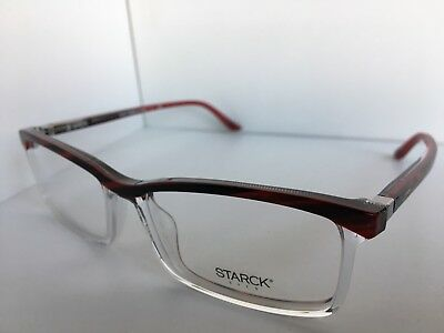 039bd698a312 New STARCK Eyes Alain Mikli SH 3037 SH3037 0003 56mm Clear Red Eyeglasses  Frame