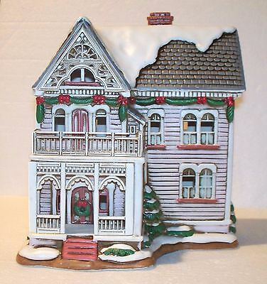 1993 Geo. Z Lefton Colonial Village Lighted Rosamond Victorian House-00988-Box