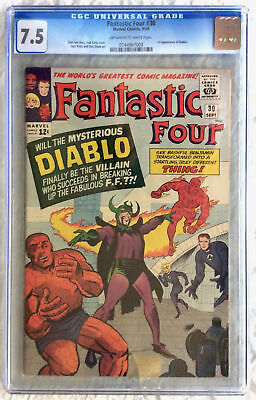 Fantastic Four 30 Cgc 7.5 Ow/w Pages First Diablo