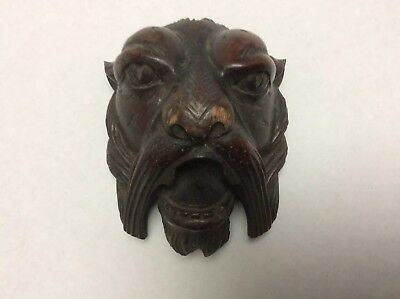Antique Baroque Hand Carved Lions Head- French Carving.
