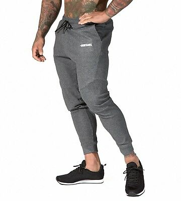 635f85e322498f Mens Fusion Gym Pants Carbon Grey Bodybuilding Aesthetic Workout Lifting  SKU168