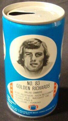 VINTAGE ORIGINAL 1977 Dallas Cowboys RC COLA Can GOLDEN RICHARDS VERY RARE