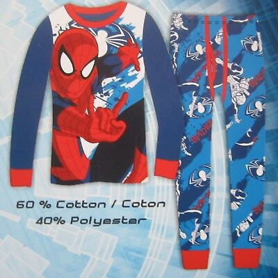 Ultimate Spider-Man Boys Thermal Underwear Marvel Comics Brand Size 10-12 WHITE
