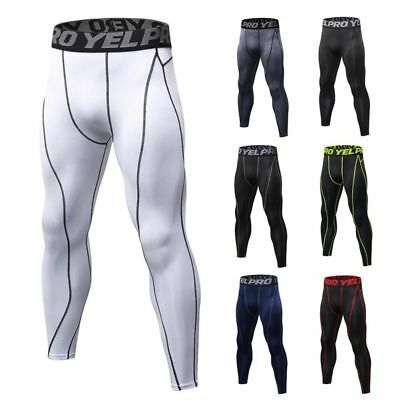 US Mens Sport Compression Pants Workout Base Layer Running Skin Tights Trousers