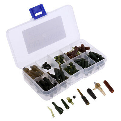 Perfeclan 100Pcs Safety Lead Clips, Beads, Line Aligner, Fishing Tackle Set