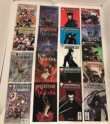 Lot Of 52 Wolverine Comics -13 Complete Mini Series / Logan /hulk /gambit/ End +