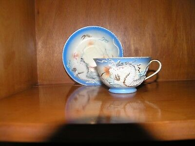 Fine China tea cup and saucer Hand Painted Wales China
