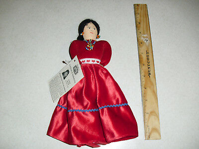 Handmade Navajo Doll Native American Indian Maiden by Alice Hale with tag