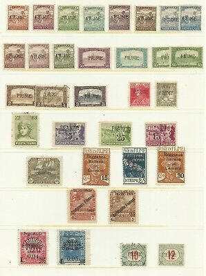 Unstudied Fiume Lot from 1916 - Mint / Used cond.