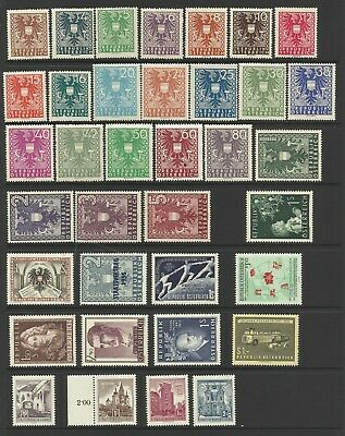 Austria Lot on 5 pages from 1945 - Mostly MNH.