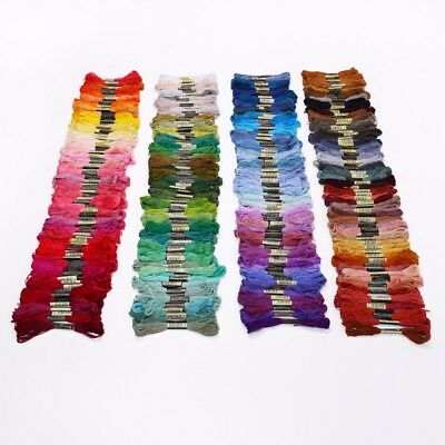 COTTON EMBROIDERY THREAD  - similar to DMC - GROUPED COLOURS - 10 PIECES