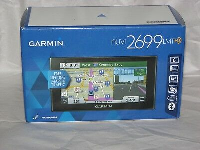 Garmin Nuvi 2699LMT HD Portable GPS Navigator 6'' Lifetime Maps & Traffic