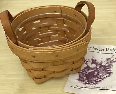 Longaberger Thyme Basket and Protector 1996