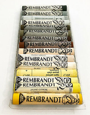 Rembrandt Soft Pastels 15 Mixed Colours And Shades  Full Sticks.  Lot 141