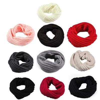 Hot Women Winter Fall Warm Infinity Circle Cable Knit Cowl Long Scarf Shawl Wrap