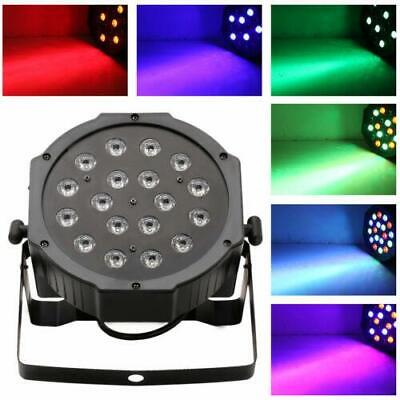 18 LED RGB Stage Lighting PAR38 DMX-512 Projector Lamp Xmas Party DJ Disco Light