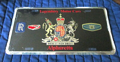 Legendary Motor Cars-Alpharetta, -Embossed Metal License Plate- New