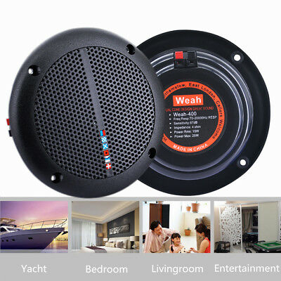 2PCS  6'' In Ceiling Wall Speakers 80W Pair Home Theatre Indoor Outdoor Round