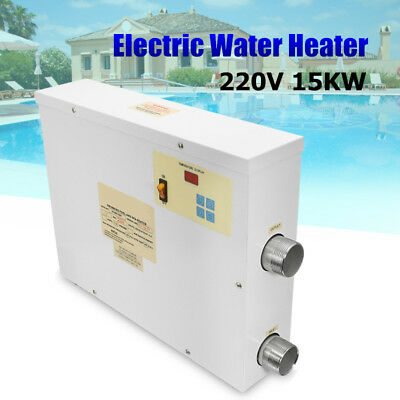 220V 15KW Digital Electric Water Heater Thermostat Swimming Pool &SPA Hot Tub AU