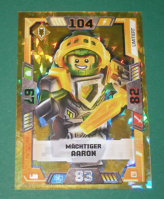 Lego Nexo Knights Trading Card Game LE 2 Mächtiger Aaron Neu! ( Serie 2! )
